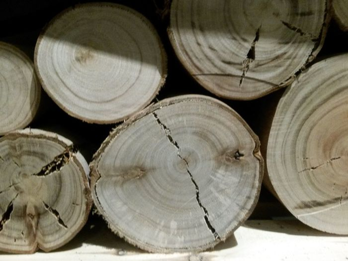 Stack Wood - Material Textured  Timber Close-up