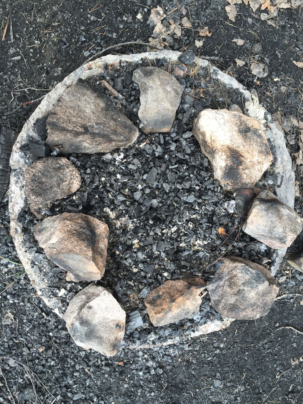 Fireplace Monochrome Party Is Over Circle Stonestructures Ash Grey Nature Near Stockholm Ornamental No People A Bird's Eye View