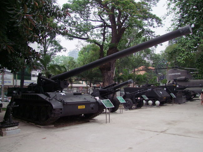 War Remnants Museum Composition Day Full Frame Guns Helicopter History Ho Chi Minh City No People Outdoor Photography Outdoors Tank Tourism Tourist Attraction  Tree Vietnam War War Remnants Museum