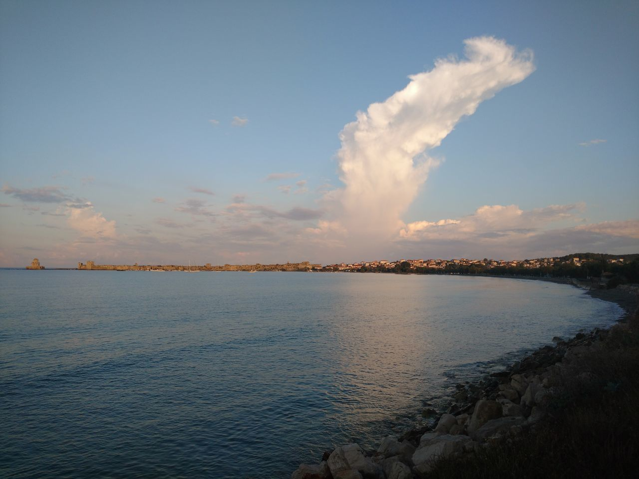 sky, nature, water, tranquility, scenics, no people, beauty in nature, cloud - sky, sea, outdoors, day