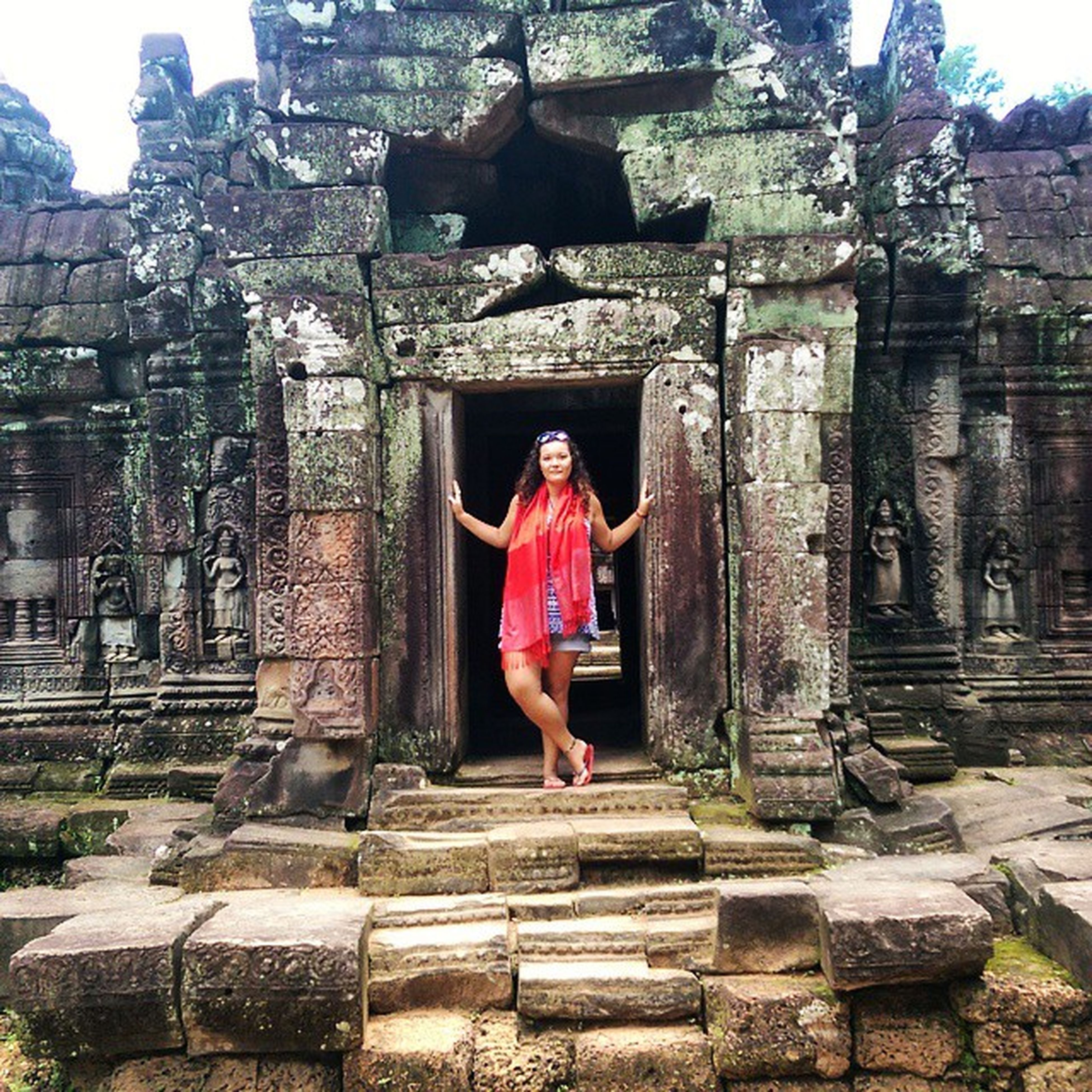 Queen of the ruins. TaSaom Temple Ancient Ruins history beautiful 12century SiemReap Cambodia