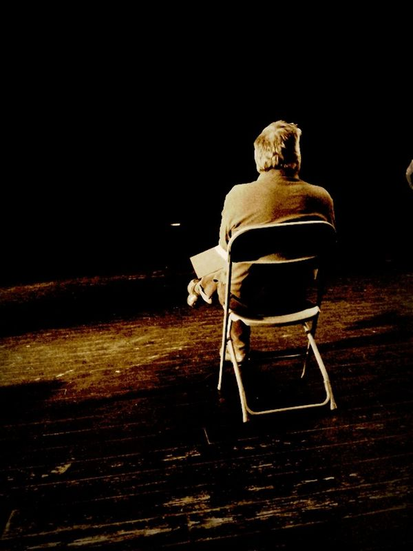 Working Hard Blackandwhite Art Alone Chair Theater Stage Sepia Simply Genious Director