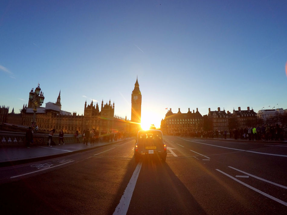 Architecture Building Exterior Built Structure City City Clear Sky Day London Outdoors Sky Sunlight Travel Destinations Urban Westminster Westminster Bridge