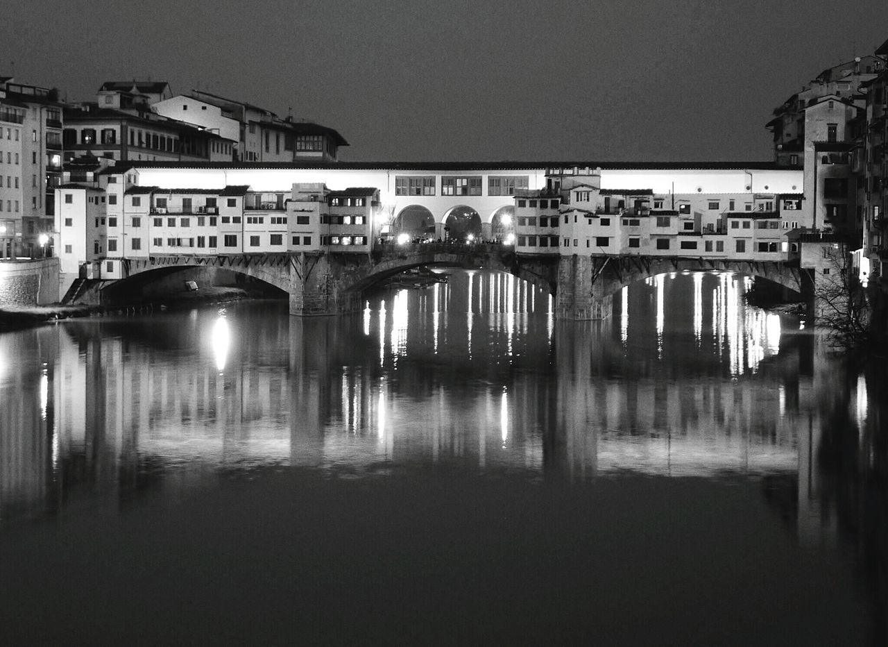 Italy Night Photography Monochrome Blackandwhite Photography Pontevecchio Florence Bridge Architecture_bw Florence Italy Florenze