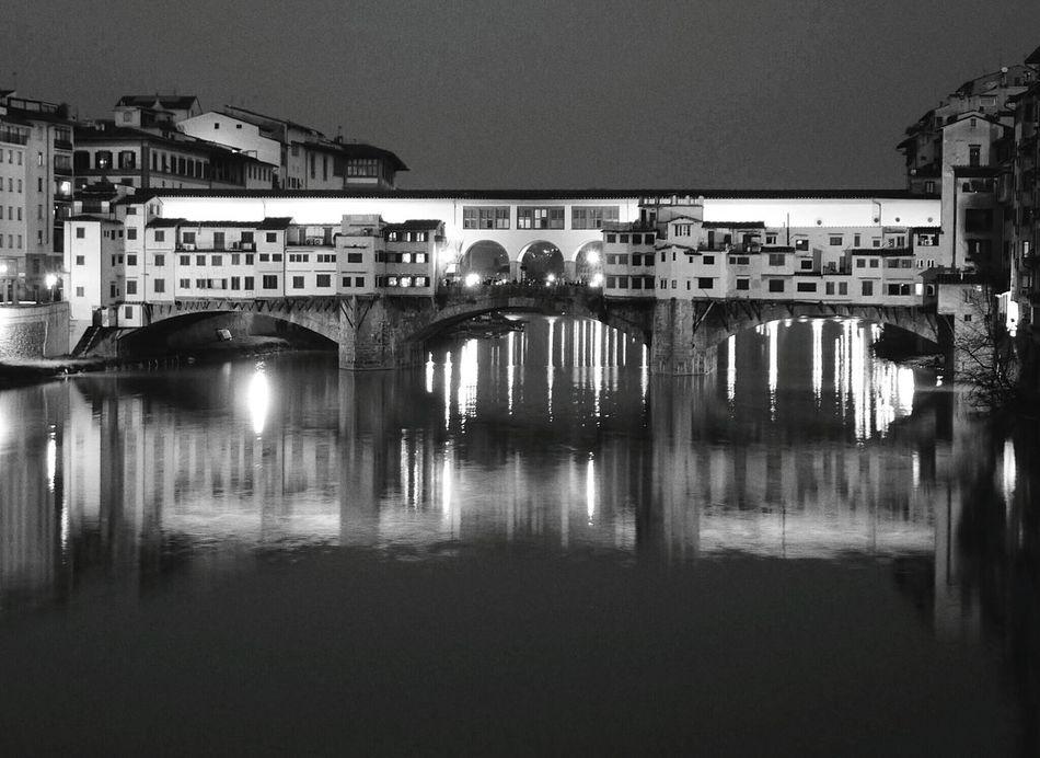 Italy Night Photography Monochrome Blackandwhite Photography Pontevecchio Florence Bridge Architecture_bw Florence Italy Florenze