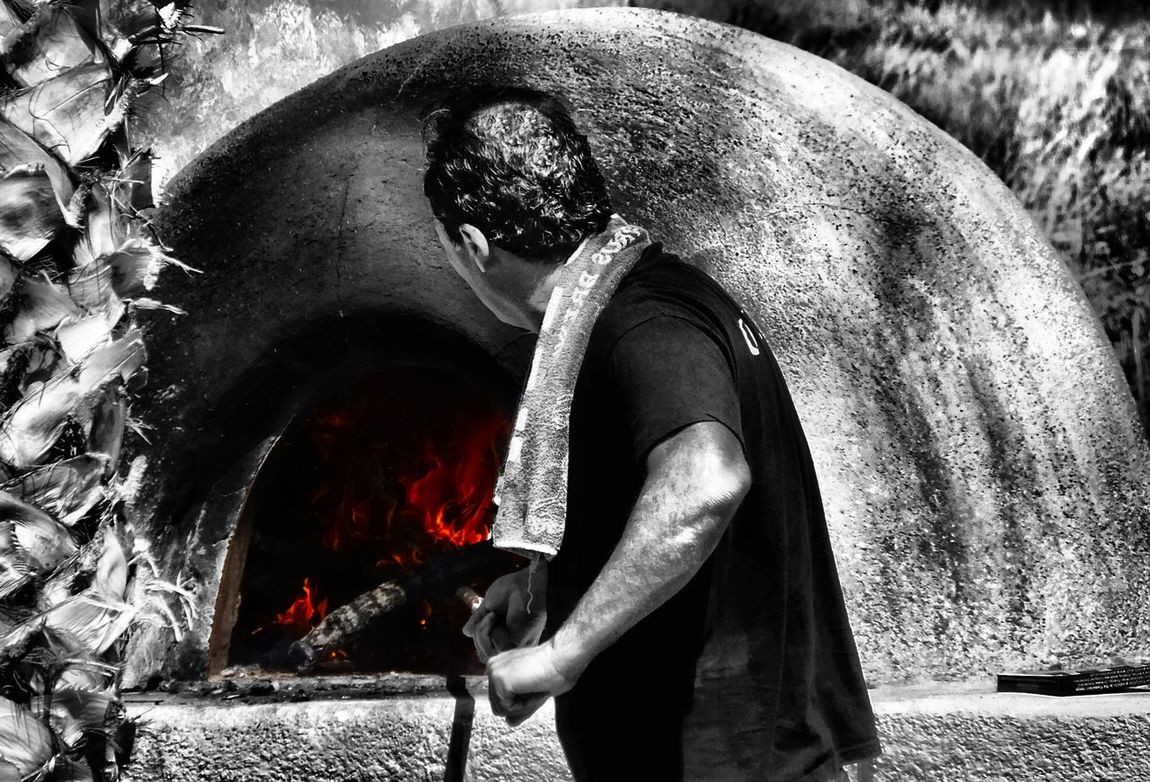 BBQ Black And White Color Black And White Photography Fire Fireworks Flames Furnace Greek BBQ Hot Man At Work Pizza Oven Fine Art Theportraitist-2016eyeemawards