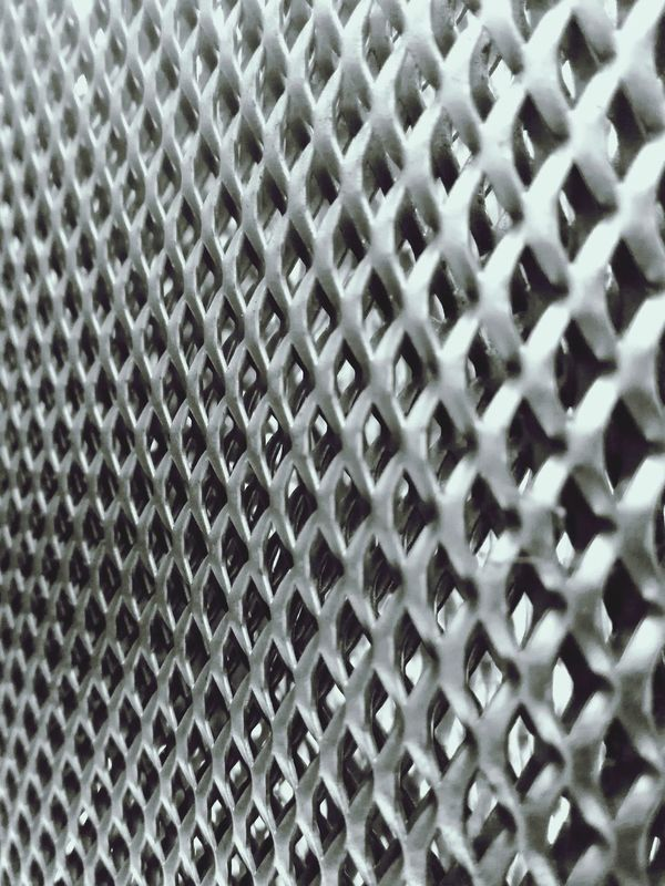 Rasterized RASTERED Metalic Structure Backgrounds Full Frame Pattern Textured  Metal Grate Abstract Repetition Close-up Metal No People Grid Hexagon Day Indoors  Shades Of Grey B&W Collections Abstractphotography B&w Photography Sheet Metal Textured  Shape Mobile Conversations Welcome To Black