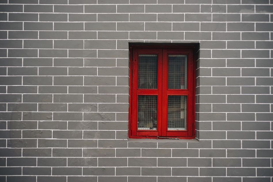 Red Building Exterior Built Structure Window Architecture Brick Wall No People Outdoors Day Security Bar Close-up