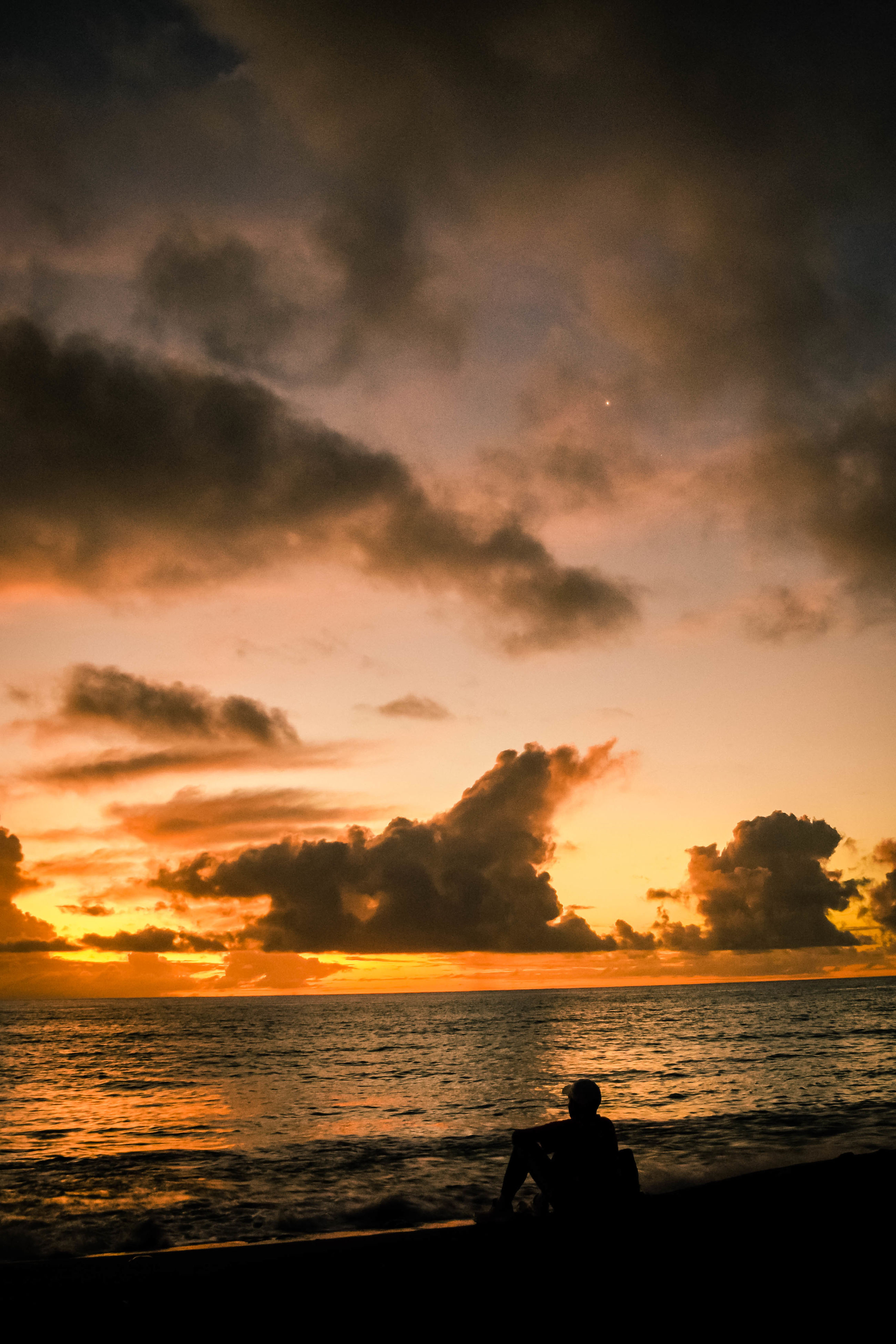 sunset, silhouette, beauty in nature, sky, nature, sea, dramatic sky, cloud - sky, outdoors, scenics, water, no people