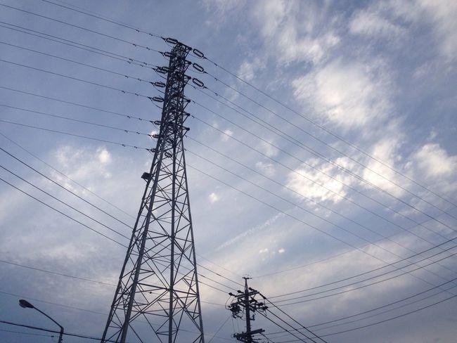 鉄塔 Steel Tower  Pylon 青空 Blue Sky Electric Wire Sky 雲 Clouds 電線
