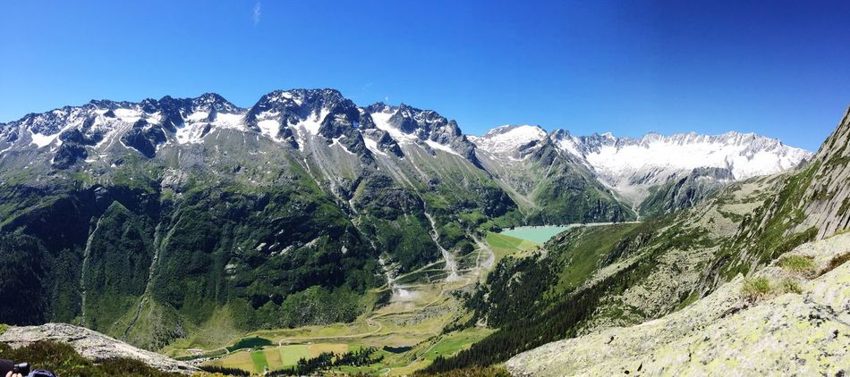 Hiking Hikingadventures Switzerland Switzerlandpictures Nature Naturpur View View From The Top Lake Mountains Mountain Range Mountain View Mountains And Sky Swiss Alps Swiss Mountains Schweiz Schweizer Alpen Blue Sky Alps Wonderland