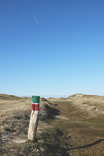 Hiking path in the dunes Blue Clear Sky Germany Grass Grassland Hiking Landscape Nature No People No People, Nobody Norderney Norderney Ist Mein Hawaii Outdoors Path Scenics Summer Tranquil Scene Tranquility