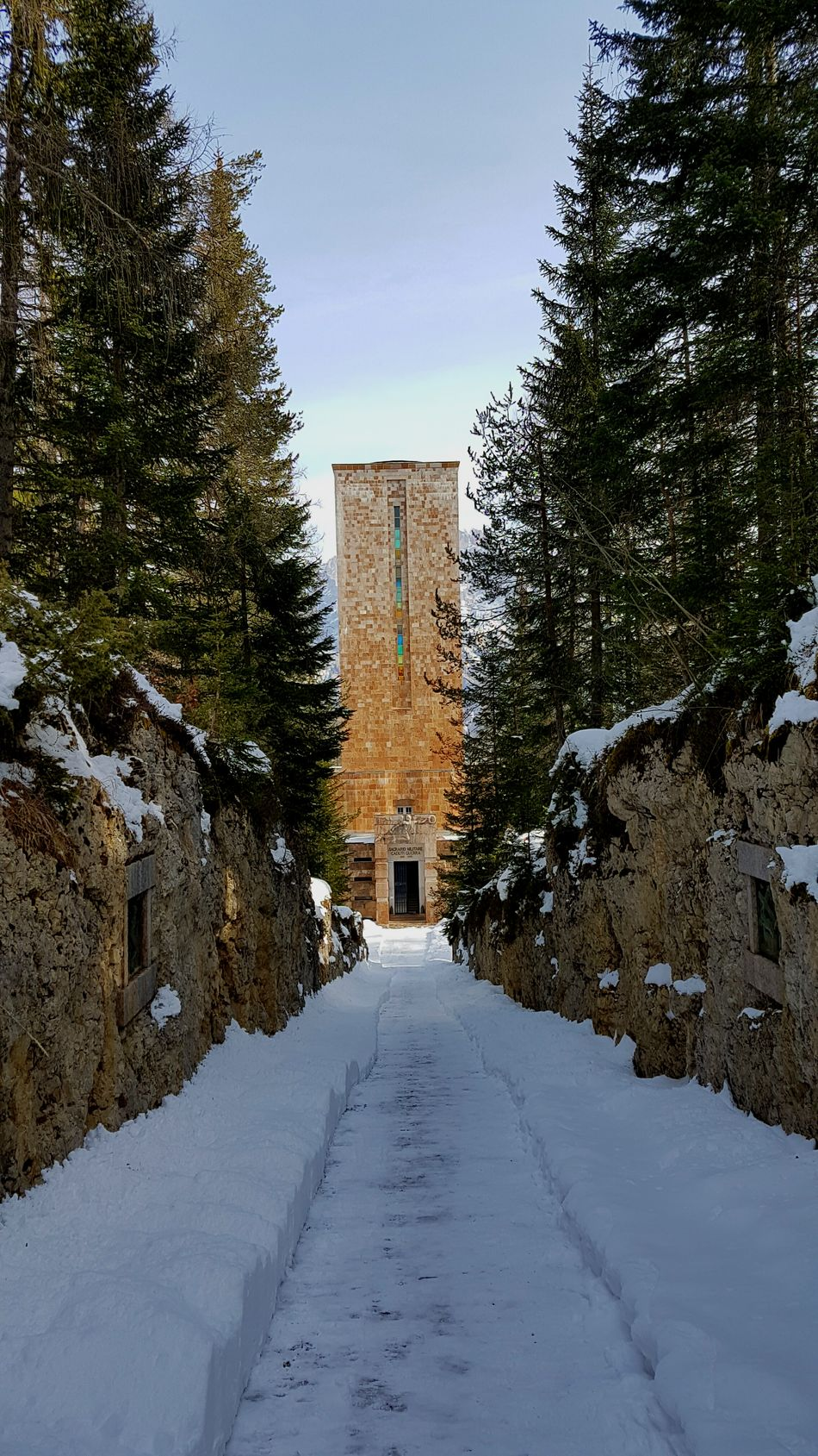 Tree Architecture Sacrario Militare Sacred Places Honouring The Dead Honour Cortina D'Ampezzo