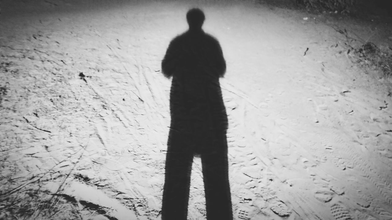 silhouette, one person, shadow, standing, real people, focus on shadow, sand, men, rear view, beach, day, full length, outdoors, one man only, nature, only men, adult, people, adults only
