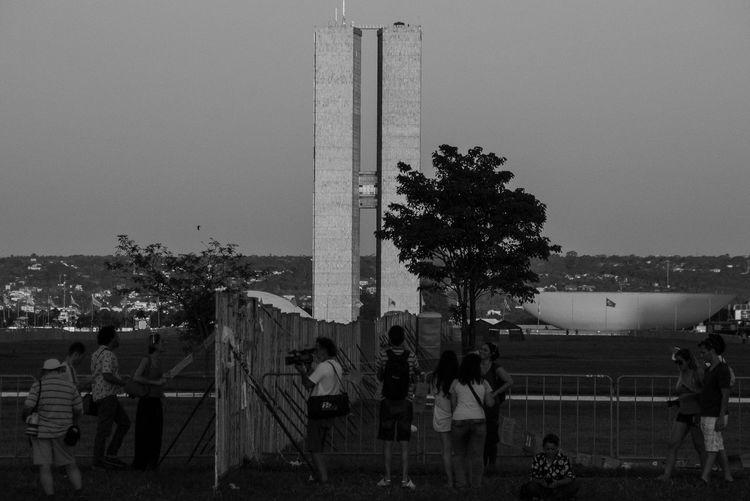 Muro Na Esplanada Esplanada Dividida Esplanada Dos Ministérios Impeachment Brasília