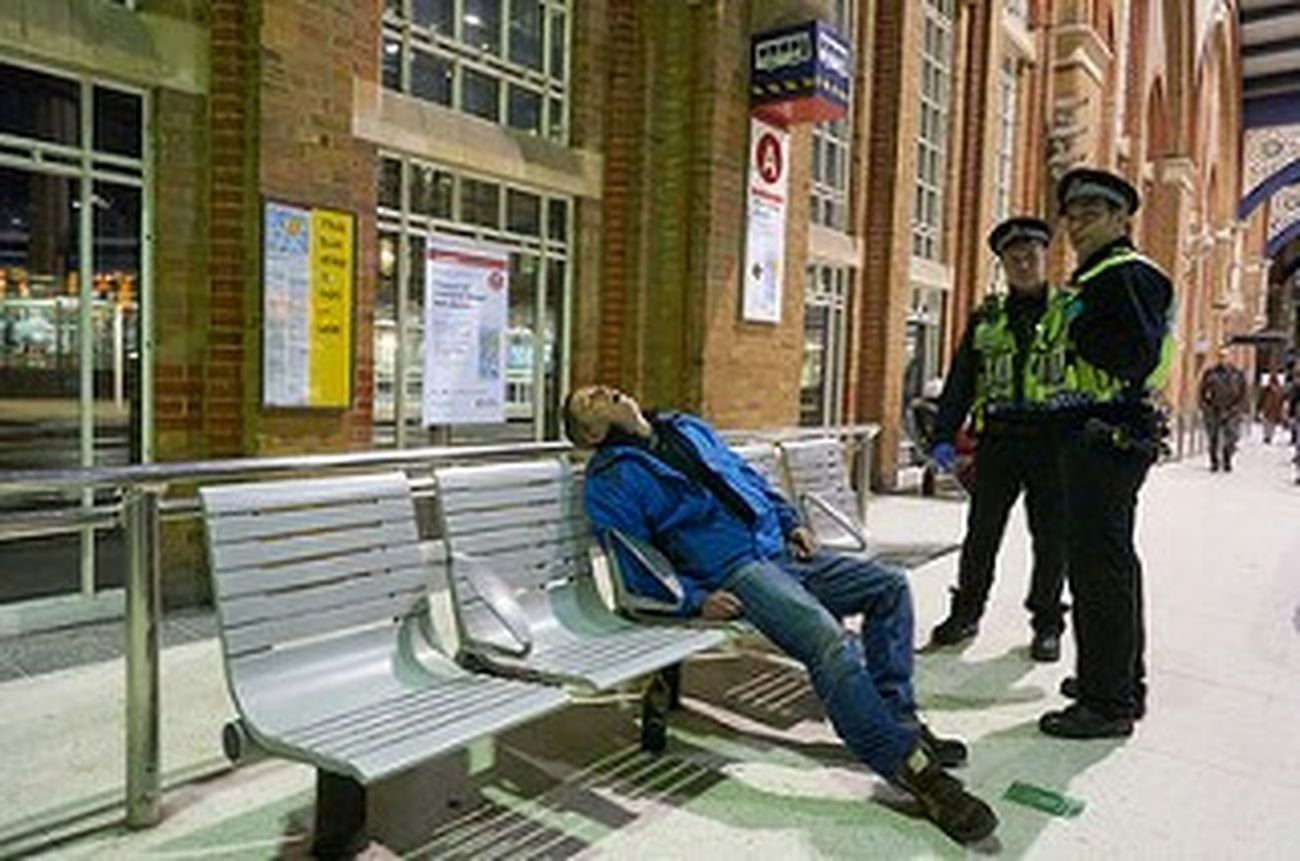 Architecture Men City Life Night Photography London Streets London Calling LONDON❤ Streetphotography City Urban Street Photography Urban Life Streetlife London London London!!! London Fitzrovialitter Police Bench Station Concourse