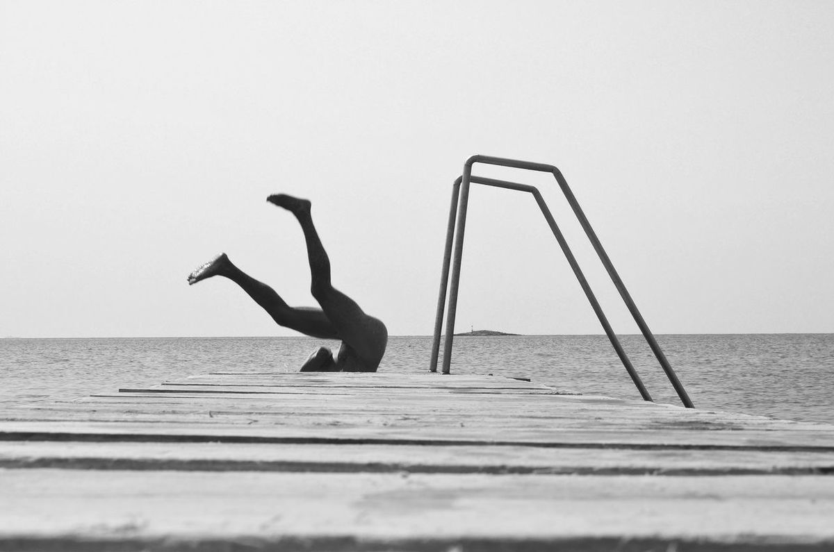 Art Photography Black And White Photography Diving Nüde Art. Skinny Dipping Summer Water