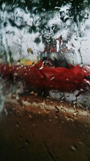 Red Backgrounds Water Rain☔ Funny Day With Rain ♥