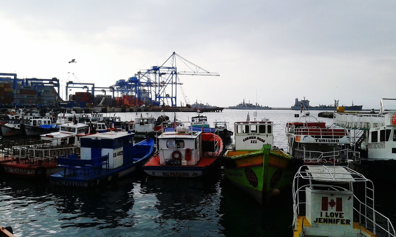 Puerto de Valparaiso Valparaiso View Boats⛵️ Grey Sky Sea And Sky Boats And Water Boats Boats Boats Sea Eyeem Boats