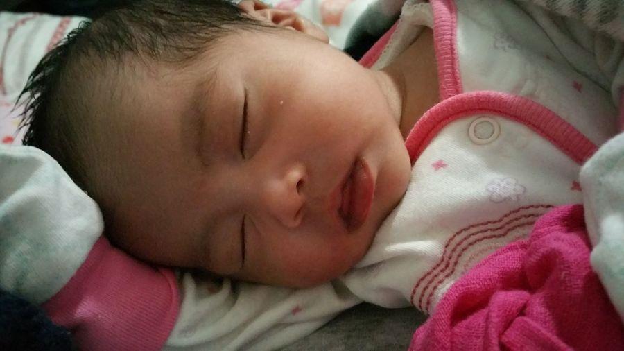 Iloveyou my little munchkin.😊😘🤗 TitaNinang will always be here for you. 💞 Annika First Grandchild Rillera MadeinSydney😂 Niece  Innocence New Life Sleeping Eyes Closed  Cute