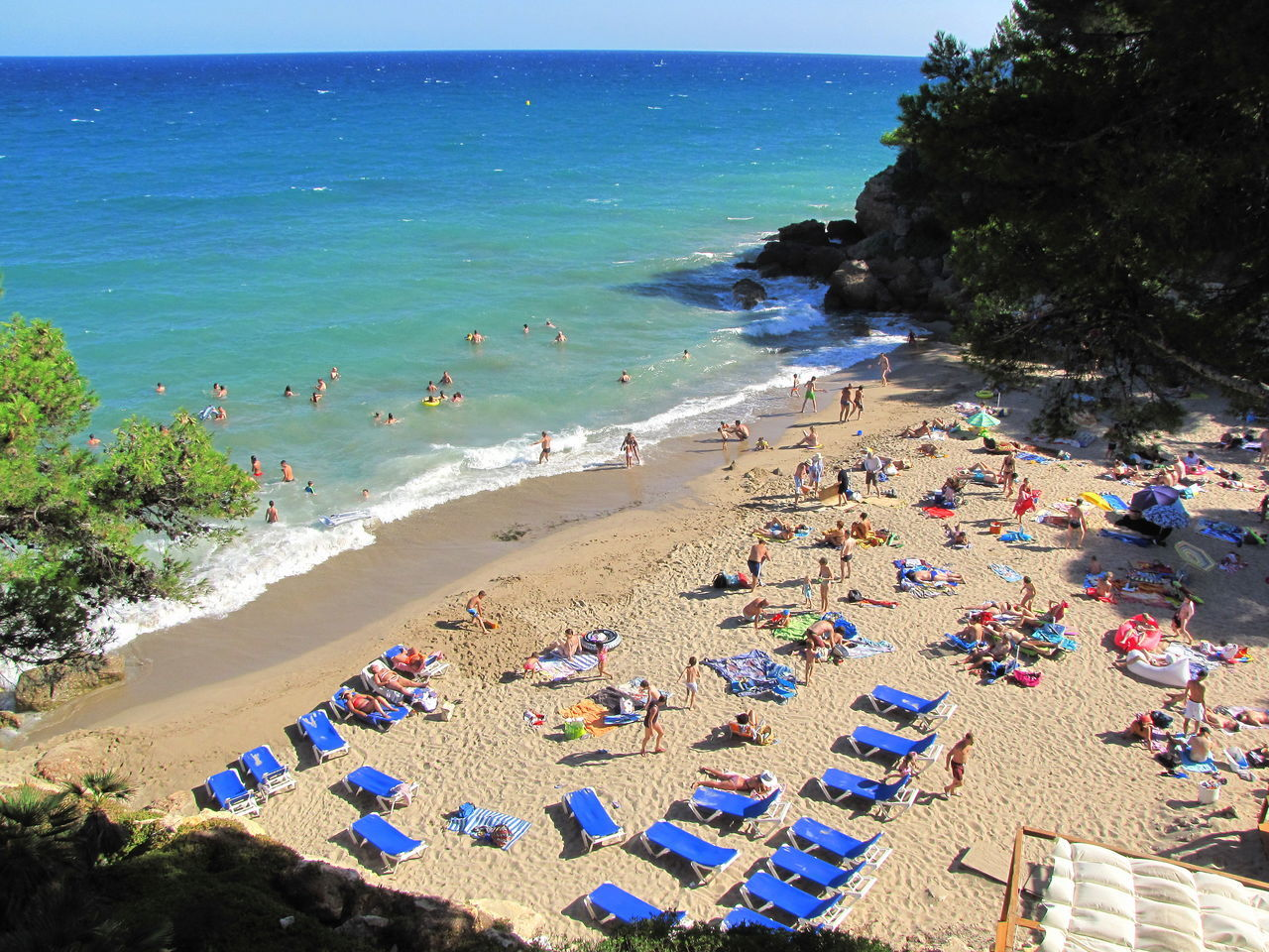 Beach Beach Photography Beauty In Nature Blue Coastline Costa Dorada España Day Horizon Over Water Idyllic Leisure Activity Lifestyles Miami Platja-Tarragona-Spain Outdoors Relaxation Sand Scenics Sea Sky Summer Tourism Tourist Tranquil Scene Tranquility Vacations Water