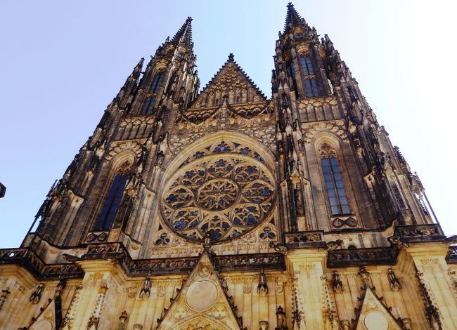 St. Vitus (Veitsdom), Old Town, Prague Architecture Blue Built Structure Cathedral Church Day Façade Low Angle View No People Old Town Ornate Outdoors Place Of Worship Prague Religion Sky Spirituality St. Vitus Cathedral Tourism Travel Destinations Veitsdom