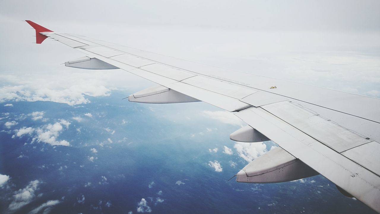 Airplane Flying Cloud - Sky Aircraft Wing Travel Mid-air Sky Aerial View Commercial Airplane Air Vehicle No People Outdoors Nature Day Aerospace Industry Fighter Plane Airplane Wing Airasia AirPlane ✈ Airplaneview Airport