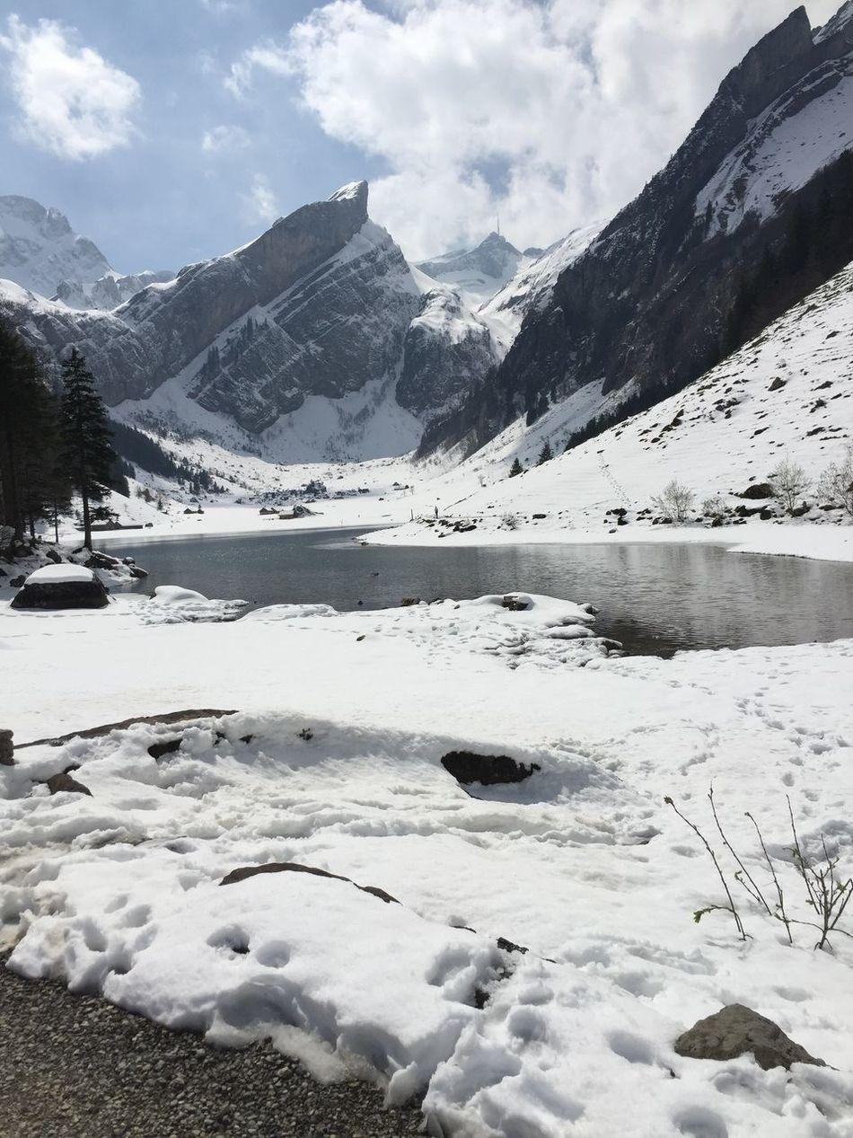 Beauty In Nature Seealpsee Snow Mountain Winter Scenics Outdoors Nature Switzerland