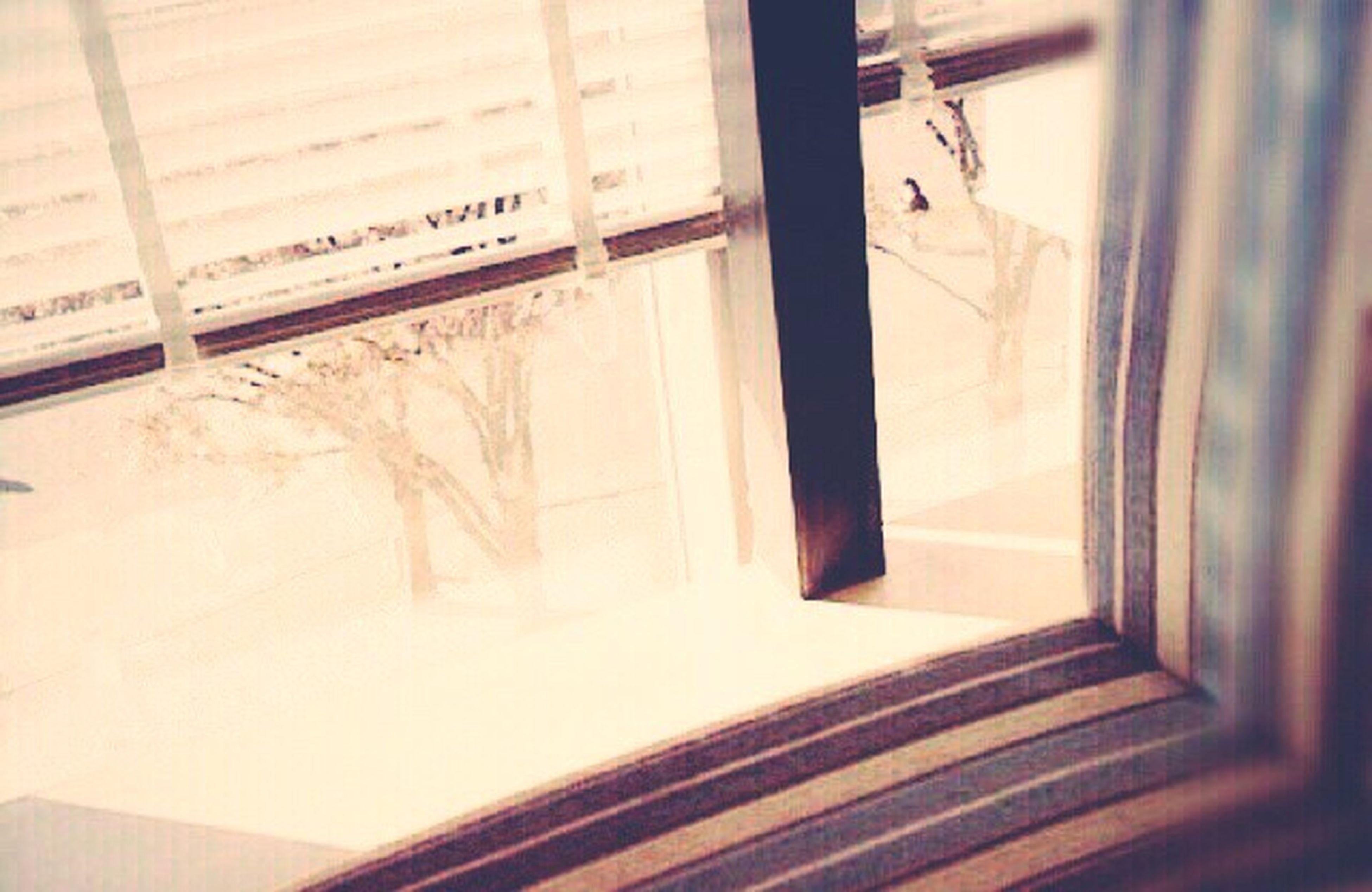 indoors, window, transparent, glass - material, transportation, public transportation, vehicle interior, rail transportation, mode of transport, train - vehicle, railroad station, communication, technology, absence, no people, train, day, travel, reflection, passenger train