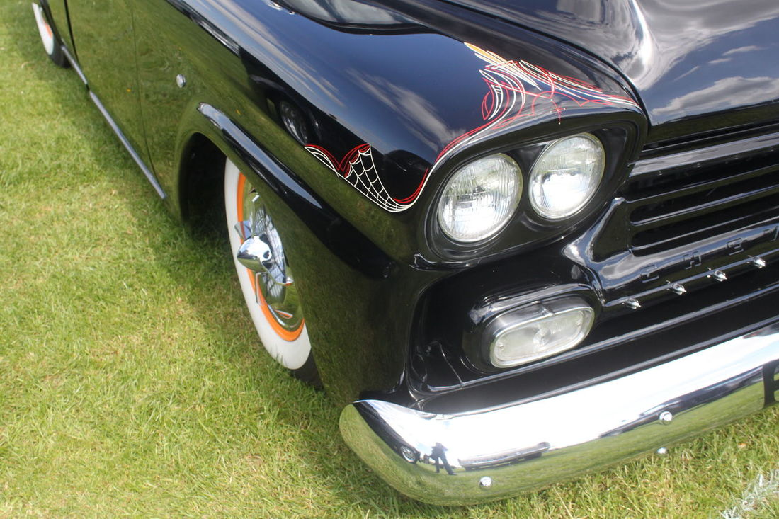 1950's Vehicles Car Classic Car No People Pinstriped Vintage Car Whitewall Tyres
