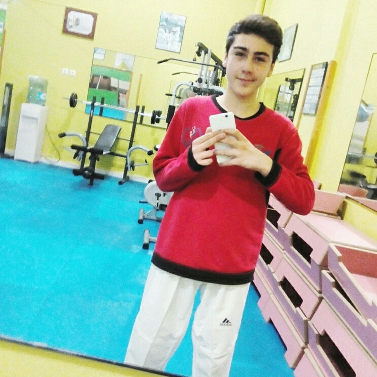 Taekwondo training.