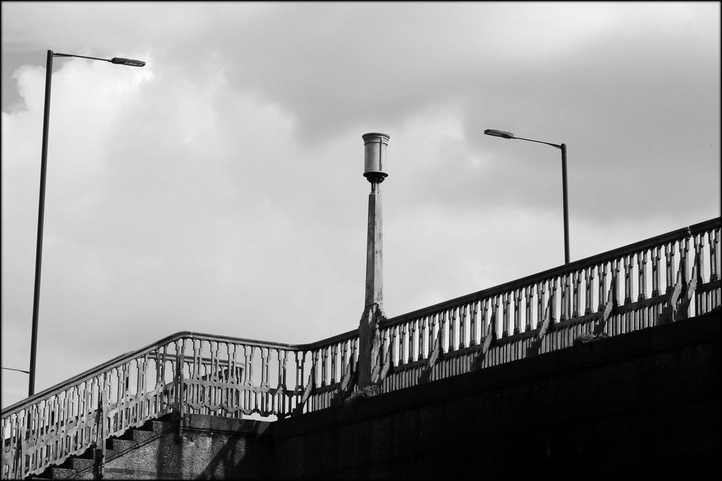 Architecture Bridge Bridge - Man Made Structure Building Building Exterior Built Structure Cloud Cloud - Sky Cloudy Connection Day Engineering Lighting Equipment Low Angle View No People Outdoors Overcast Railing Sky Street Light Symetry Twickenham Bridge