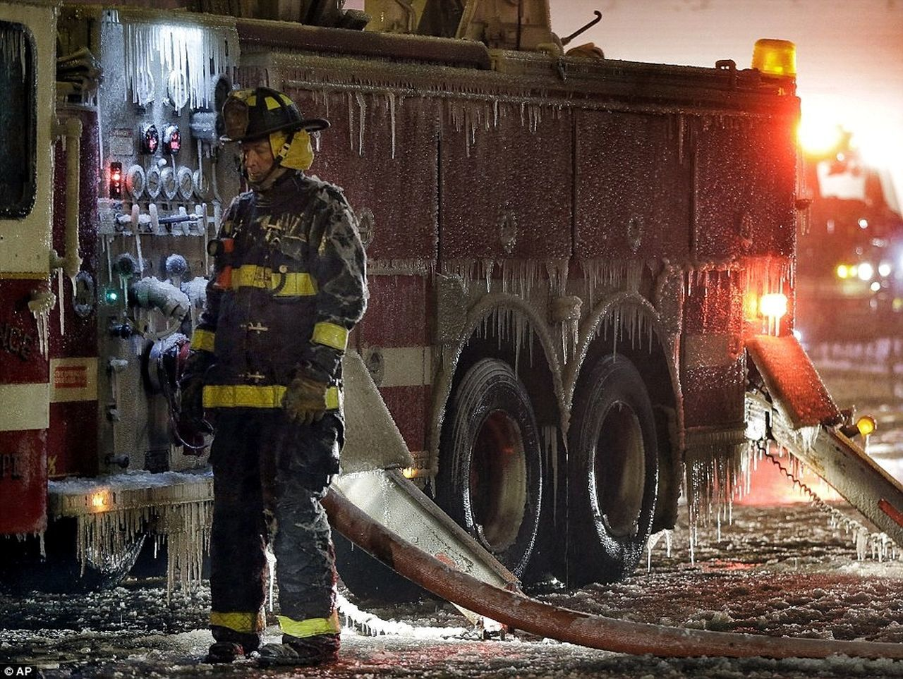 Not my shot but this has been everyday this week. High temps in the 20's, lows sub zero. Working Teamwork Responsibility Sacrafice  Winter In Michigan The Calling Commitment Honor Pride Service Ice Firefighter Cold Temperature Apparatus