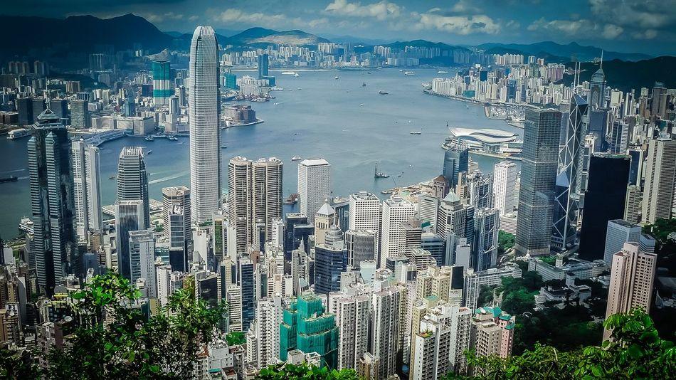 City Cityscape Harbor Hong Kong Hong Kong City Skyline Urban Skyline Victoria Peak, Hongkong