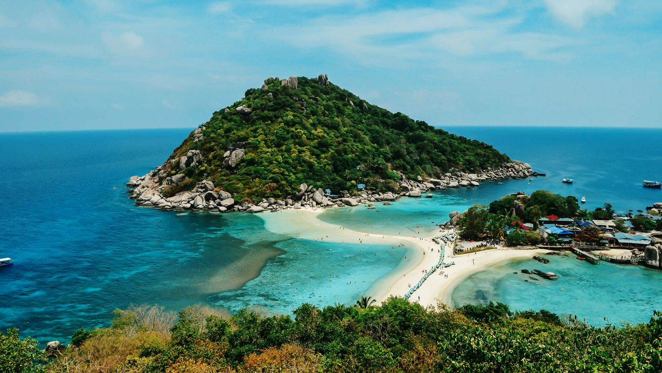 It was great! A small island in Thailand. Island Nature Sea Thailand Koh Tao Nangyuan Traveling