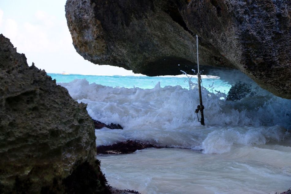 Surf of Tulum Rock - Object Extreme Sports Water Nature Motion Real People Outdoors One Person Day Adventure Hanging Leisure Activity Sea Sport Beauty In Nature Rock Face Sky People Tulum , Rivera Maya. Beauty In Nature Vacations Tranquil Scene Water Beautiful Nature EyeEmNewHere