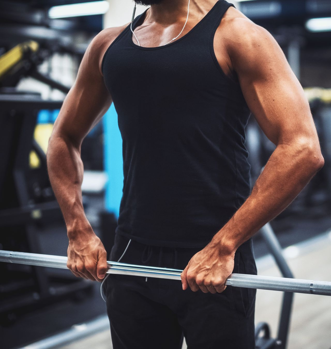 Athlete Bodybuilding Calories Endurance Fit Fitness Force Gym Man Muscle Muscular Build Power Ripped Shoulders Sweat Training Triceps Working Out