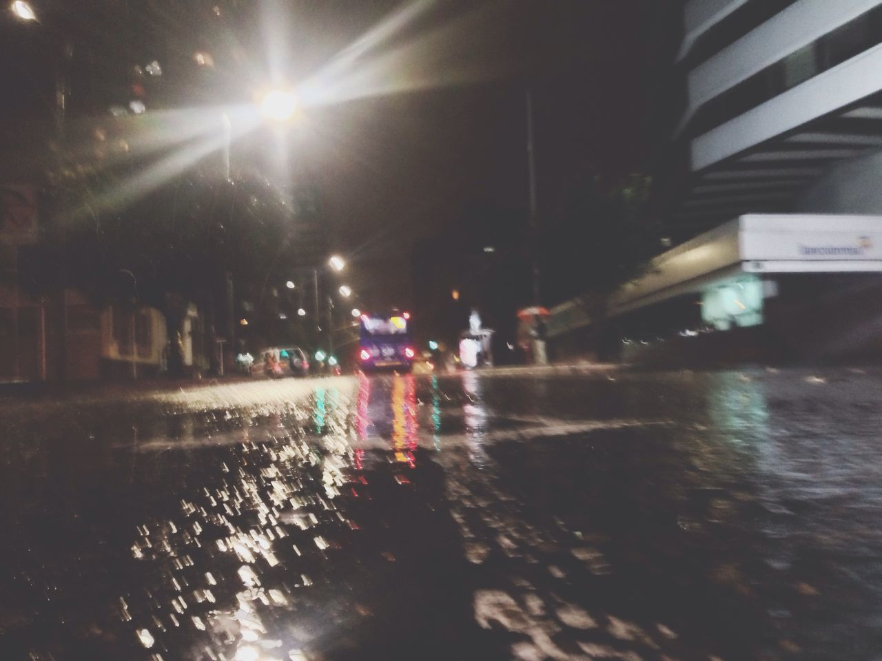 City Water Illuminated Reflection Night Rain Cold Big City Life City Life Sadness Melancolic Feeling Good Bye Street Building Bus Cars Light And Shadow Light Lights Wet Wet Street Streetphotography Street Photography