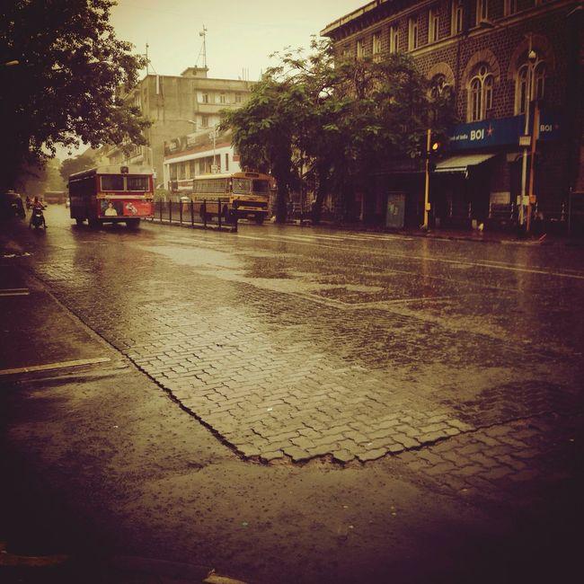 Early Mornings Rain Monsoon Mumbai