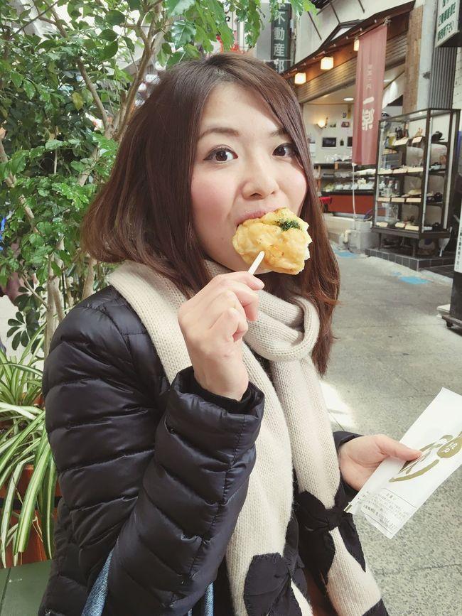 まる天のじゃがバター揚! Eating Food Checking In Atami In Japan Walking Around