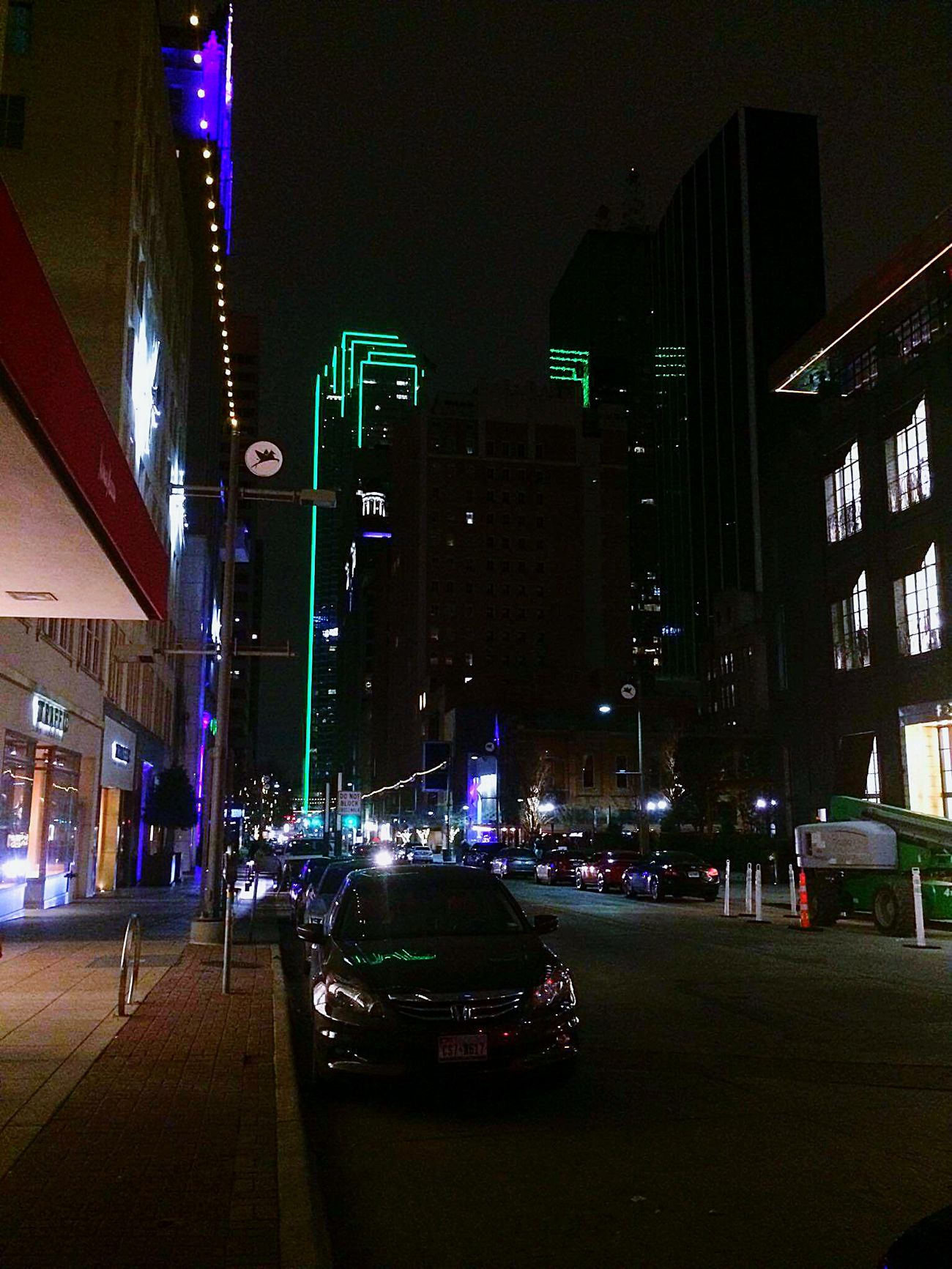 Night City Street City Streets  Citylife CityWalk City Lights At Night Night Photography Night City Buildings & Sky Building Dallas Skyline Dallas