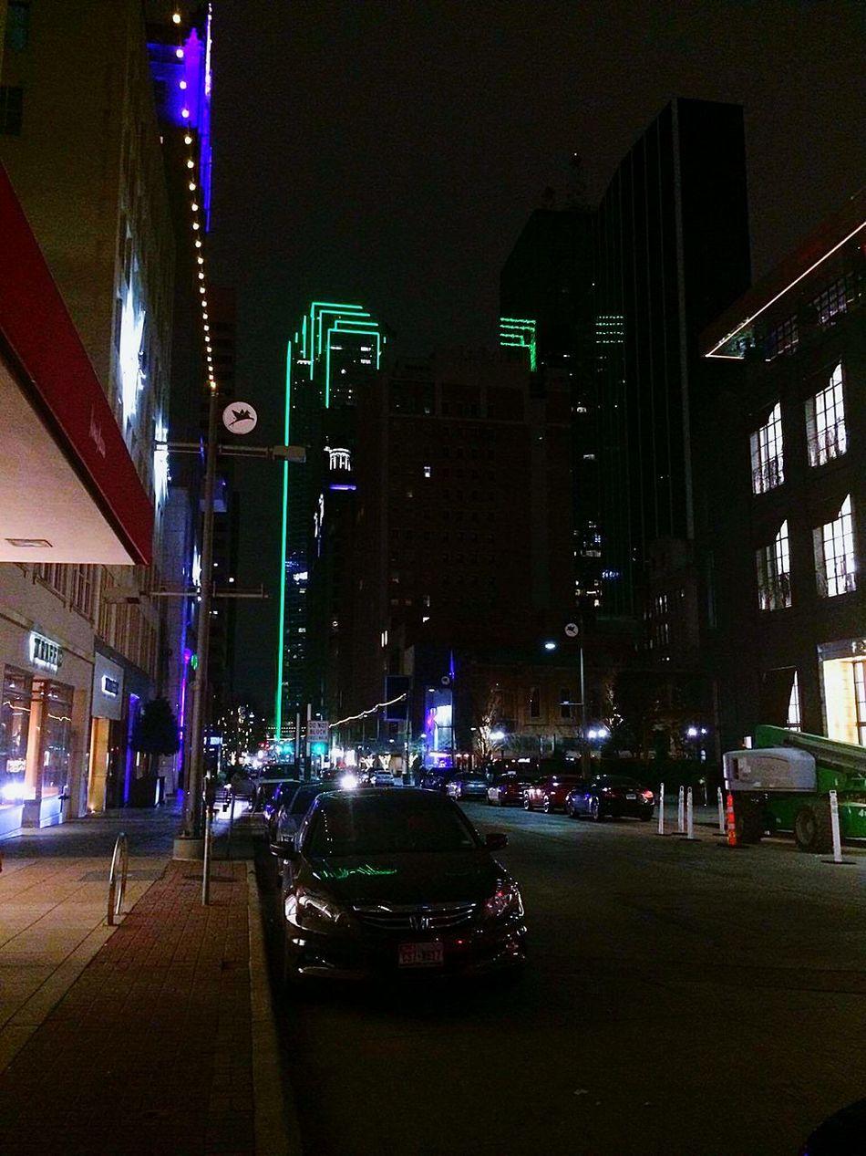Night City Street City Streets  Citylife CityWalk City Lights At Night Night Photography Night City Buildings & Sky Building Dallas Skyline Dallas
