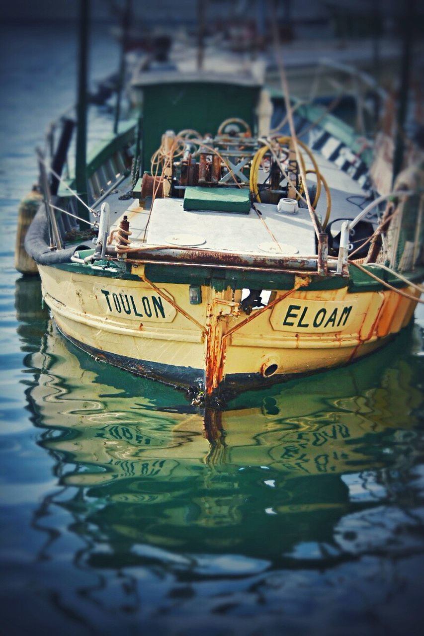 nautical vessel, transportation, text, boat, mode of transport, moored, water, day, outdoors, waterfront, no people, close-up, nature, sailing