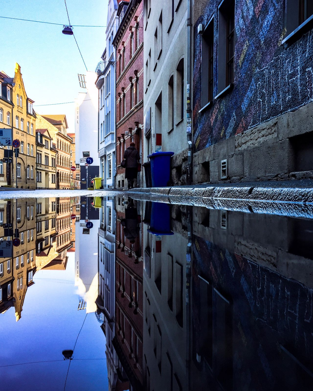 My Year My View Reflection Building Exterior Architecture Water Built Structure Waterfront Sky City Outdoors Nautical Vessel Nature Day No People Beauty In Nature Puddle Puddleography Puddle Reflections
