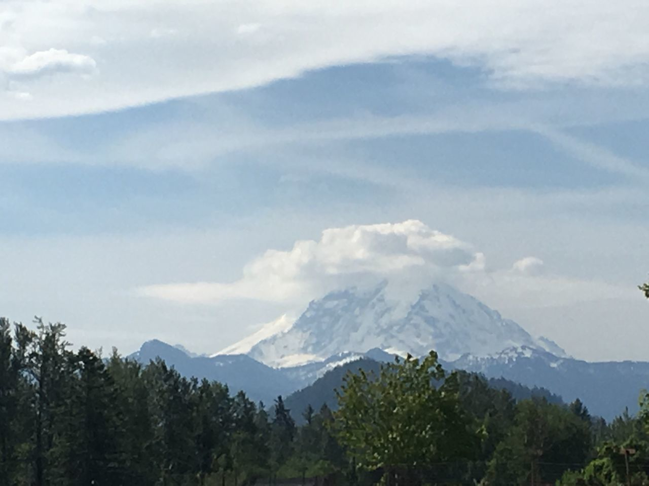 Mountain Beauty In Nature Nature Sky Scenics Tranquility Tranquil Scene Day Landscape No People Mountain Range Outdoors Tree Peak Snow Range Mt.RAINIER Cloud - Sky No Filter, No Edit, Just Photography Beauty In Nature Rural Scene Forest
