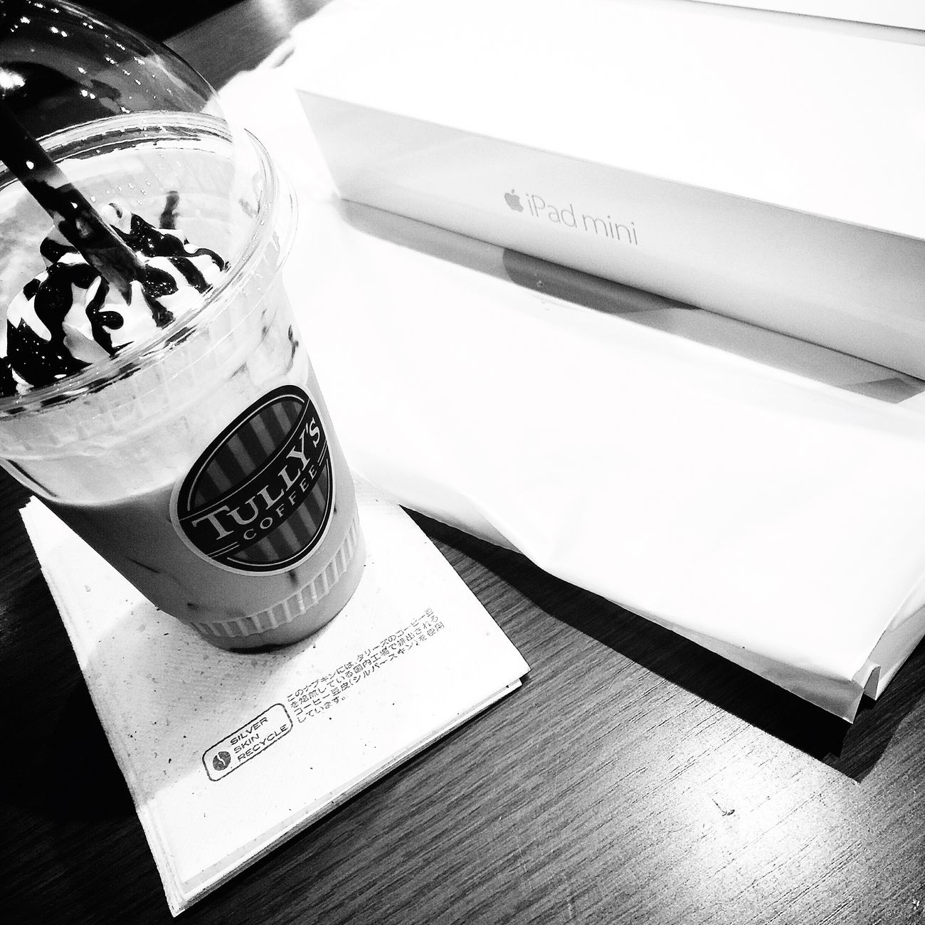 Relaxing at Tully's Coffee Tokyo