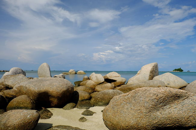 Beach Beauty In Nature Blue Cloud Cloud - Sky Day Geology Horizon Over Water Nature Non-urban Scene Ocean Outdoors Pebble Rock Rock - Object Scenics Sea Seascape Shore Sky Stone - Object Tourism Tranquil Scene Tranquility Water