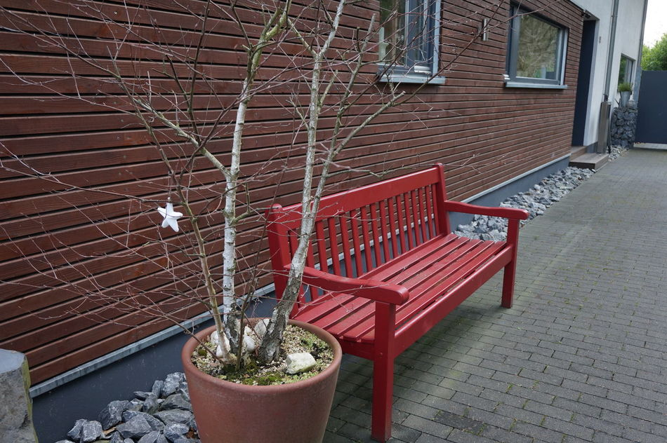 Xmas time enjoy star House No People OutdoorsRed Seat Bench