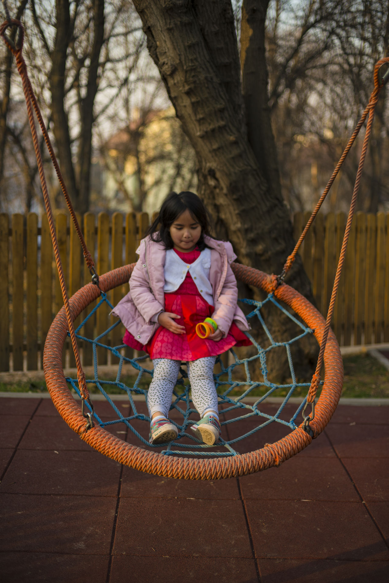 Child Childhood Children Only Day Full Length Jungle Gym One Girl Only One Person Outdoors Park People Playground Playground Equipment Playground Fun With The Kids Playgrounds Racket Sport Swing Tree The Portraitist - 2017 EyeEm Awards