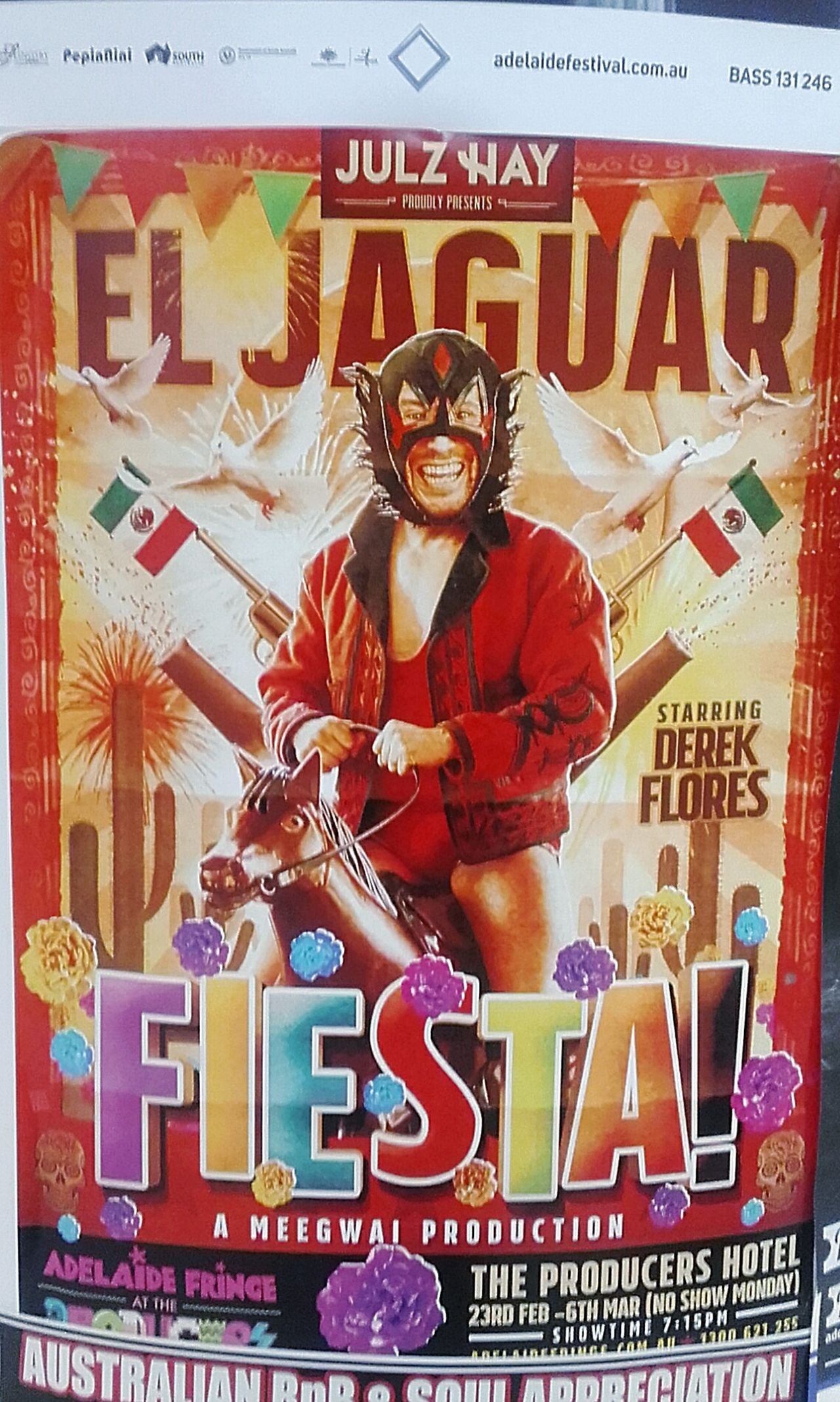 El Jaguar Fiesta FIESTA! Derek Flores Posterart Poster Posters Poster Art Poster Color Poster! Poster Wall Meegwai Poster Collection Posterporn Posterwall Adelaide Fringe Postercollection Meegwai Production Julz Hay Wall Poster Color Posters Posterdesign Advertisingposters Advertisement Posters Colour Posters